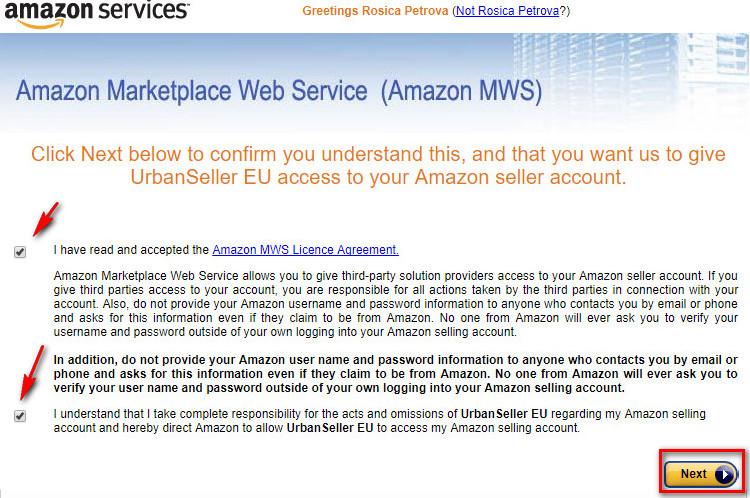 Integrate Amazon Accounts Urban Seller Support